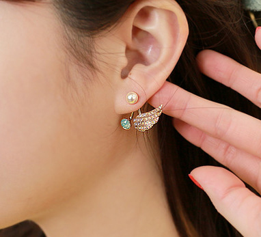 Angel Wing Ear Cuff Gold Earrings