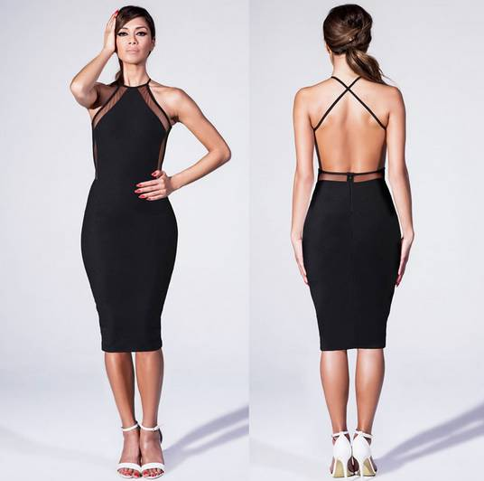 Sexy open back dresses