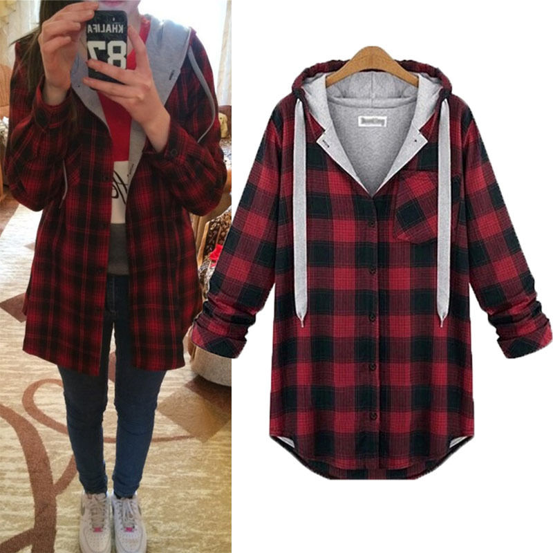 Women Hoodies Jacket Cotton Pullovers Winter Coat Casual Long ...