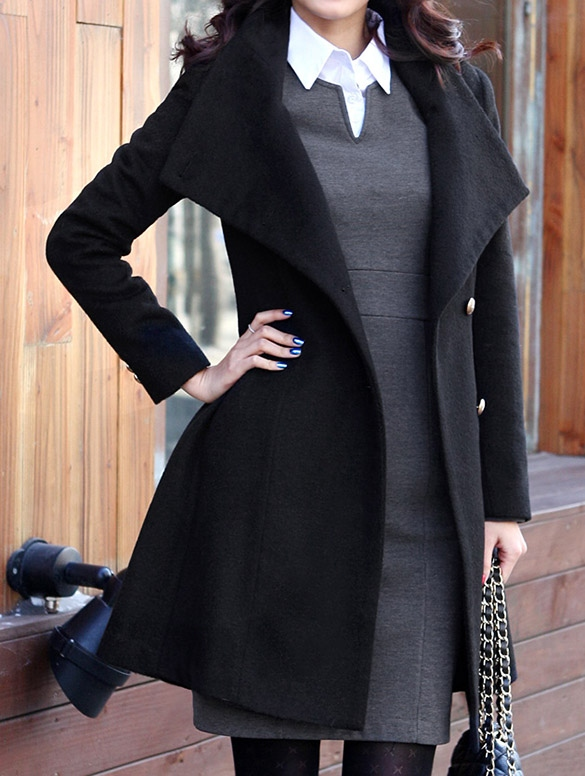 a3b706a9ee1e3 Long Sleeve Tweed Winter Coat High Quality on Luulla